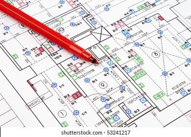 Electrical drawing of house