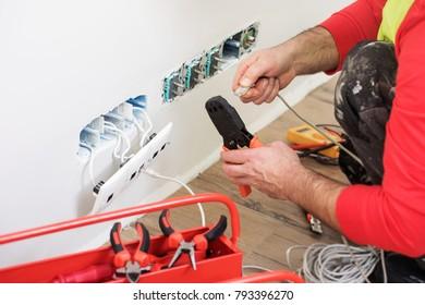 Electrical engineer at work