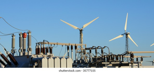 electrical equipment and 2 wind turbines