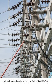 Electrical equipment in outdoor substation ,high voltage