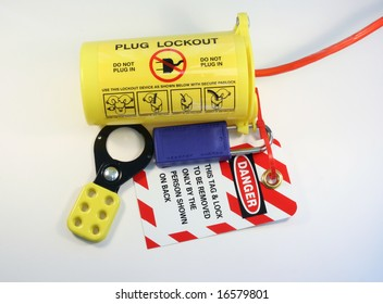 electrical extension cord protected by lockout tagout