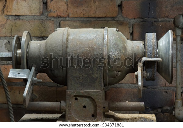 Magnificent Electrical Grinding Machine Bench Grinder Stock Image Ibusinesslaw Wood Chair Design Ideas Ibusinesslaworg