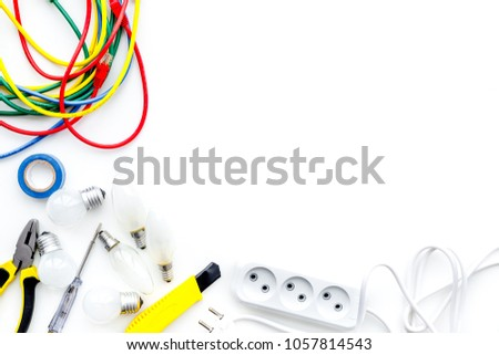 Phenomenal Electrical Installation Wiring Works Tools Cabel Stock Photo Edit Wiring 101 Akebretraxxcnl