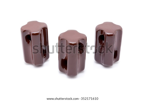 Electrical Insulator On White Background Stock Photo (Edit
