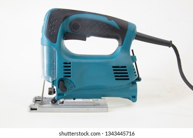 electrical jig saw isolated on a white background