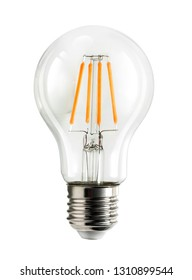 Electrical light bulb isolated on white background with clipping path