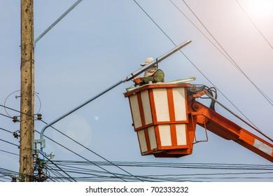 Electrical maintenance.
