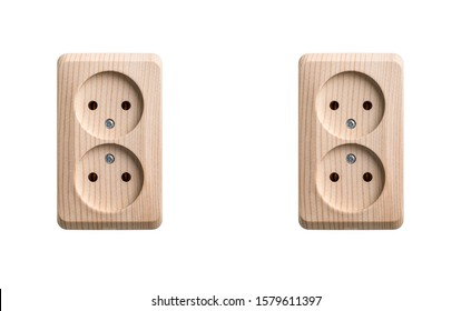 Electrical outlet isolated on white