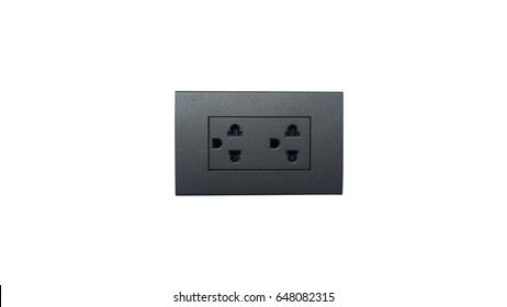 electrical outlet  Isolated on White Background.
