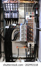Electrical panel with fuses and contactors