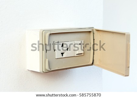 Electrical Plug Switch Cover Exterior Stock Photo Edit Now