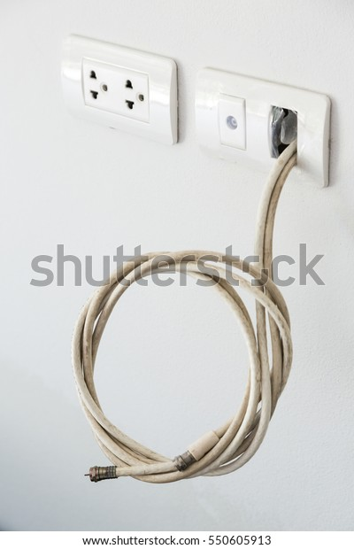 Electrical plug and TV signal outlets