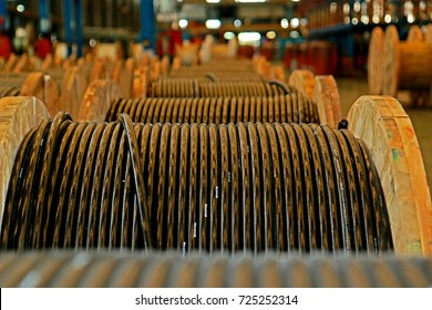 Electrical power cable on reels