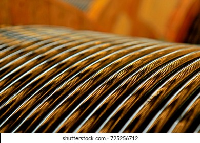 Electrical power cable in the reel