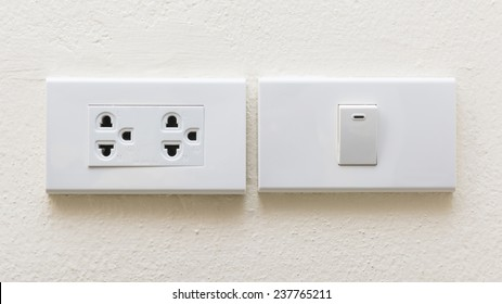 electrical power socket and plug switched