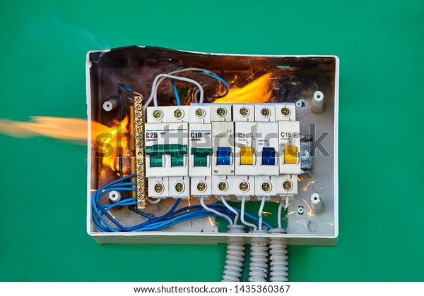 Electrical Problems Improper Electric Wiring Present Stock Photo Edit Now 1435360367
