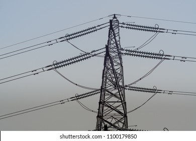 Electrical pylon. Located in Middlesbrough, North Yorkshire.
