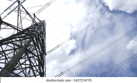 Electrical pylons with cloudy Skys