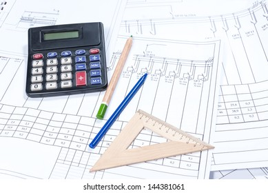 Electrical scheme, calculation and drawing