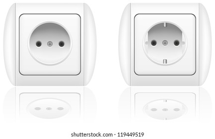 electrical socket illustration isolated on white background