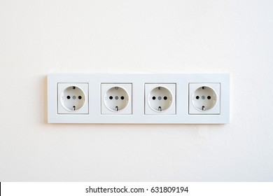 Electrical sockets on a wall