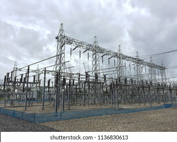 Electrical substation in Thailand.