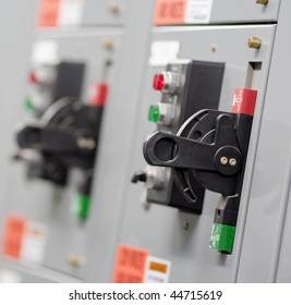 An electrical switch in an industrial application
