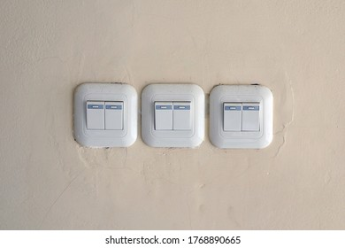 electrical switch on the wall