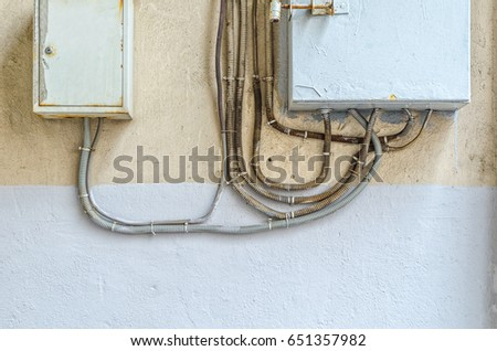 Amazing Electrical Switchboard On Wall Wiring Electrical Stock Photo Edit Wiring Digital Resources Bemuashebarightsorg