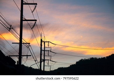 Electrical system with sunset atmosphere