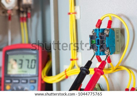 Remarkable Electrical Terminal Box Control Panel Manetic Stockfoto Jetzt Wiring Cloud Hisonuggs Outletorg