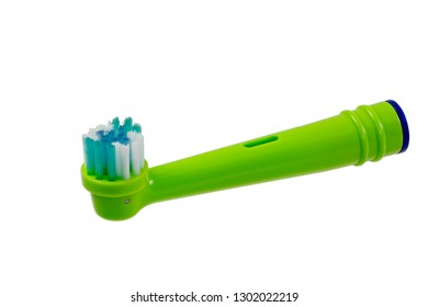 Electrical toothbrush head isolated on white.