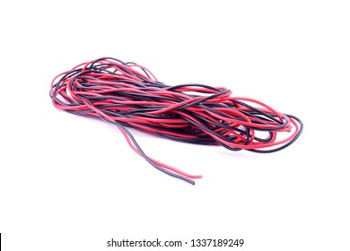 Electrical wire isolated on white background.
