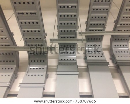 Astonishing Electrical Wiring Buildinga Cable Tray System Stock Photo Edit Now Wiring Digital Resources Antuskbiperorg