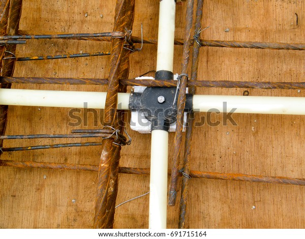 Electrical Wiring Conduit Work Civil Construction | Royalty ... on