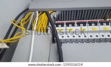 Pleasing Electrical Wiring Control Cabinet Stock Photo Edit Now 1195516114 Wiring 101 Cranwise Assnl