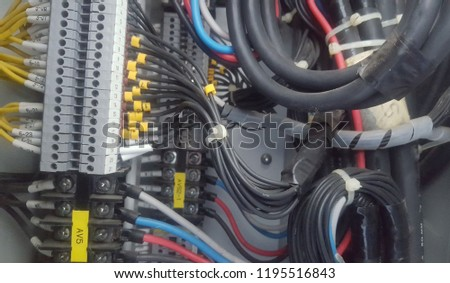 Marvelous Electrical Wiring Control Cabinet Stock Photo Edit Now 1195516843 Wiring 101 Cranwise Assnl