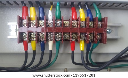 Astounding Electrical Wiring Control Cabinet Stock Photo Edit Now 1195517281 Wiring 101 Cranwise Assnl