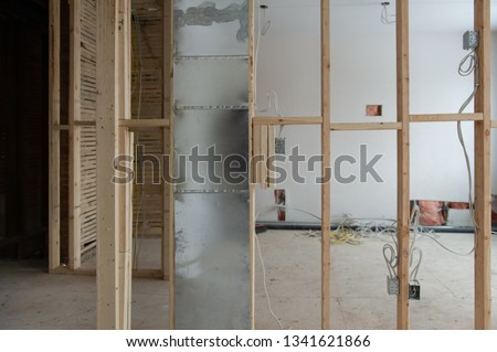 Magnificent Electrical Wiring On Residential Renovation Site Stock Photo Edit Wiring Database Pengheclesi4X4Andersnl