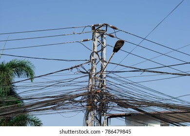 The electrical wiring of the town are complicated