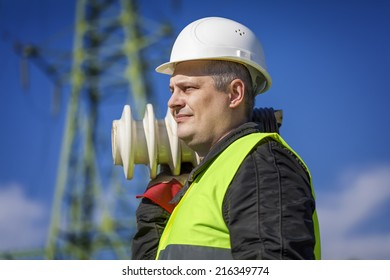 Electrician with a damaged insulators