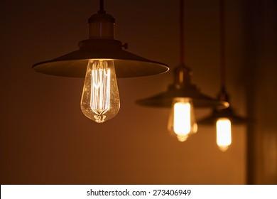 electricity bulb Edison bright light