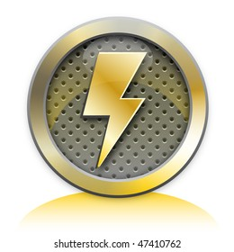 Electricity metal icon