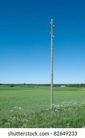 Electricity power supply post in the field