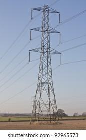 An Electricity Pylon in a Farmers Field