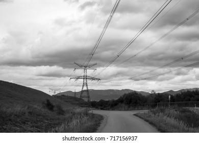 Electricity pylon. Slovakia