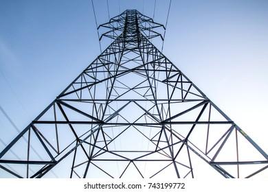 Electricity Pylons - Quebec, Canada - October 2017