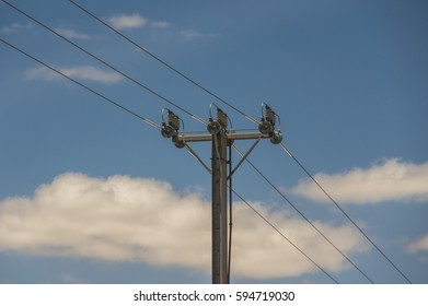 Electricity supply towers and structures transmit power along high voltage wires and cables