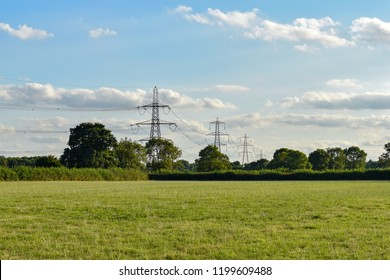 Electricity transmission pylons in Burbage, Hinckley, Leicestershire