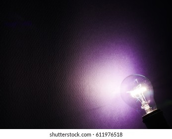 Electricty concept of light bulb
